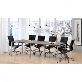 Офисный стол для переговоров Loft-design Q-270 темный орех-модена