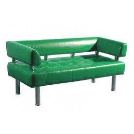 Диван-офис Тонус Sentenzo 160х60 см с подлокотниками зеленый кожзам