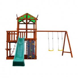 Детский спортивно игровой комплекс SportBaby Babyland-5 домик с горкой и качелями