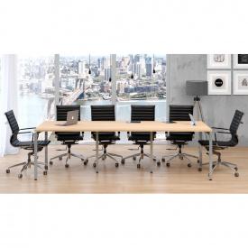 Офисный стол для переговоров Loft-design Q-270 светлый дуб-борас