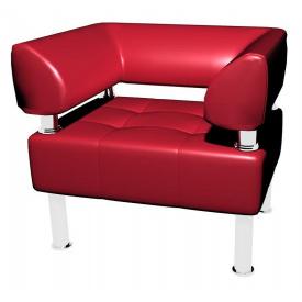 Офисное мягкое кресло Sentenzo Тонус 800x600х700 мм красный кожзам