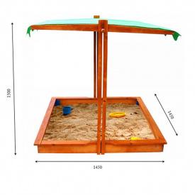 Дитяча пісочниця SportBaby №22 дерев'яна з дахом