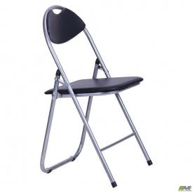 Складной стул AMF Джокер алюм сидение пвх-черное раскладной для кафе сада