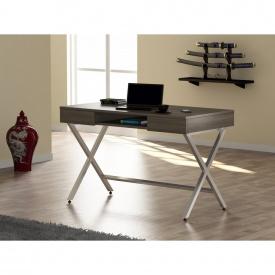 Стол письменный Loft-design L-15 ножки X металличекие Дуб-палена