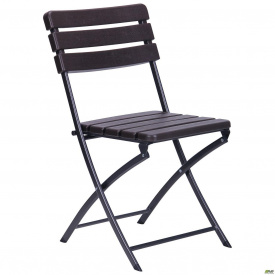 Садовый стул складной Даймлер YC-043 металл+пластик коричневый