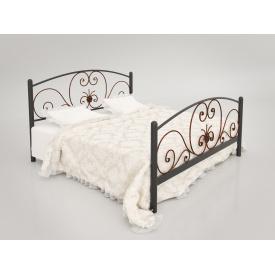 Металеве ліжко Німфея Тенеро чорне