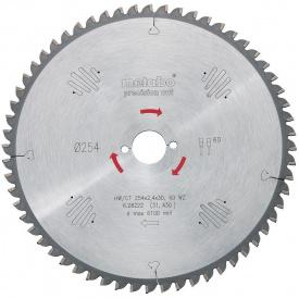 Пильный диск Metabo 250х2,8/1,8х30Z=60WZ2NL TS/PK /MULTI (628049000)