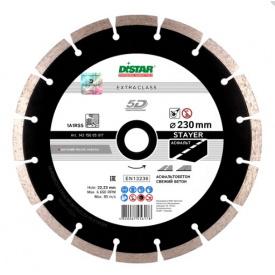 Алмазный диск Distar 1A1RSS/C3-H 230x2,6/1,8x10x22,23-16 STAYER (14315005017)