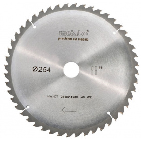 Пильный диск Metabo PrecisionCutClassic 254x30 48WZ 5 град /B (628656000)