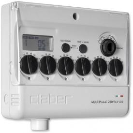 Таймер подачи воды Claber Multipla AC 220/24 V LCD (81909)