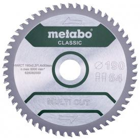 Пильный диск Metabo MultiCutClassic 190x30 54 FZ/TZ 5 град (628282000)