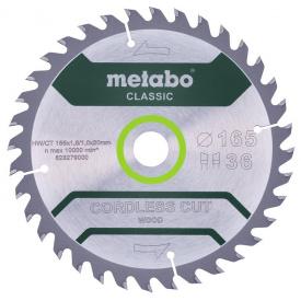 Пильный диск Metabo CordlessCutClassic 165x20 36WZ 15 град (628279000)