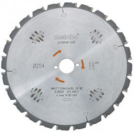 Пильный диск Metabo 254x30 HW/CT 24 WZ (628025000)