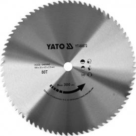 Диск пильный Yato по дереву 500x32x4.5 мм, 80 зубцов (YT-60872)