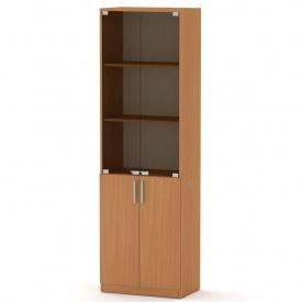 Офисный шкаф КШ-6 Компанит стеклянный дсп бук