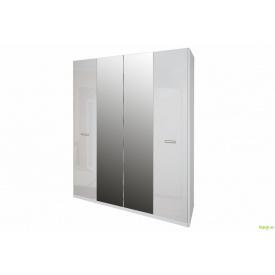 Шафа 4Д (із дзеркалами) Белла біла MiroMark