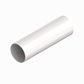 Труба водостічна INES 80 мм RAL 9010 білий