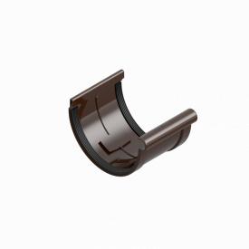 З'єднувач муфта жолоба INES 120 мм RAL 8017 коричневий