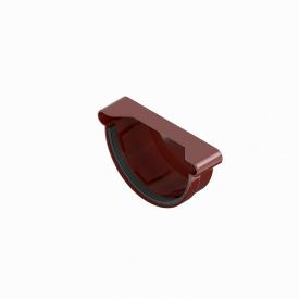 Заглушка ринви INES 120 мм RAL 3011 червоний універсальна