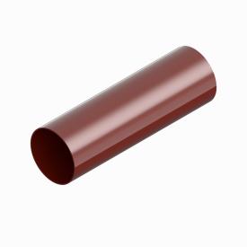 Труба водостічна INES 80 мм RAL 3011 червоний