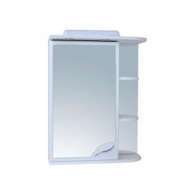 Шафа навісний дзеркальний для ванної кімнати БАЗИС 55 з підсвічуванням лівий Пік