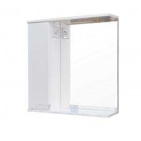 Дзеркало для ванної кімнати СІМПЛ 50 ліве з LED підсвічуванням Пік