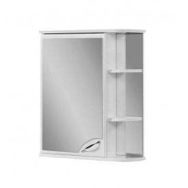 Шафа навісний дзеркальний для ванної кімнати БАЗИС 55 лівий Пік
