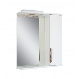 Дзеркало для ванної кімнати АЛЬВЕУС 55 праве з підсвічуванням ручка врізна Пік