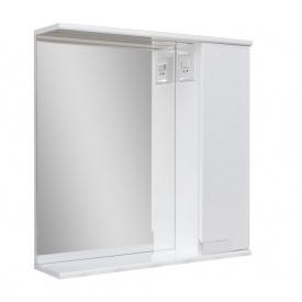 Дзеркало для ванної кімнати СІМПЛ 70 праве з LED підсвічуванням Пік