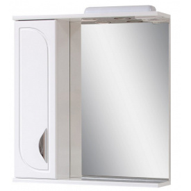 Дзеркало для ванної кімнати БАТЕРФЛЯЙ 65 ліве з підсвічуванням Пік