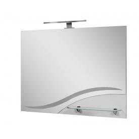 Зеркало для ванной комнаты СИМПЛ 80 свет ПиК