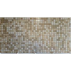 Панели ПВХ Грейс Мозаика коричневая с узором 0,3 мм 955х480 мм