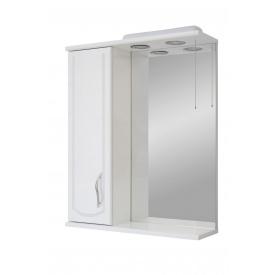 Дзеркало для ванної кімнати БАЗИС 55 ліве декор з підсвічуванням Пік