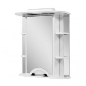 Шафа навісний дзеркальний для ванної кімнати АЛЬВЕУС 60 з підсвічуванням Пік