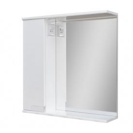 Дзеркало для ванної кімнати СІМПЛ 60 ліве з LED підсвічуванням Пік