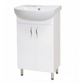 Тумба для ванної кімнати БАЗИС 50 c умивальником АРТЕКО 50