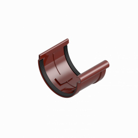 З'єднувач муфта жолоба INES 120 мм RAL 3011 червоний