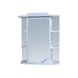 Шафа навісний дзеркальний для ванної кімнати Пік БАЗИС 60 з підсвічуванням