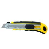 Нож строительный пластик резина корпус лезвие 8 шт 18 мм автоматический замок SIGMA (8211121)