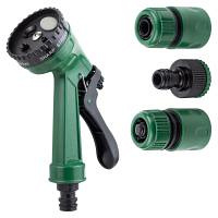 Набір для поливу пістолет розпилювач 4-х режимний 2 коннектора + адаптер на шланг GRAD (5012585)