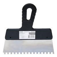 Шпатель зубчатый нержавеющий 200 мм 6х6 GRAD (8321345)