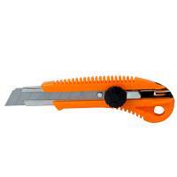 Нож строительный пластиковый корпус лезвие 18 мм винтовой замок SIGMA (8213031)