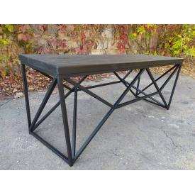 Журнальний кавовий столик GoodsMetall в стилі Лофт 1200х400х450 ЖС777