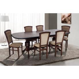 Кухонний комплект Гетьман розсувний стіл і 4 дерев'яних кухонних стільців