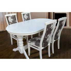 Комплект для кухні Вавилон стіл і 4 стільця білий