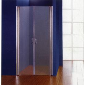 Дверцы для душевых кабин 100x185 профиль хром стекло прозрачное