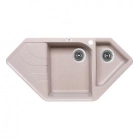 Кухонная мойка с дополнительной чашей Lidz 1000x500/225 COL-06 (LIDZCOL061000500225)