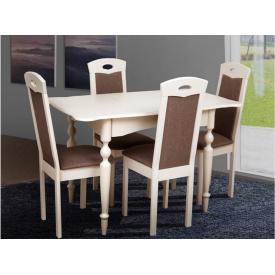 Кухонний комплект Омега стіл розсувний та 4 стільця бежевий