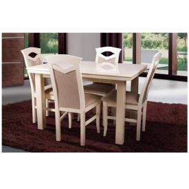 Кухонний комплект Європа стіл розсувний 4 стільця слонова кістка