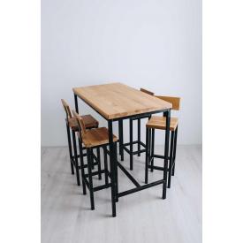 Комплект барний GoodsMetall стіл + стільці в стилі Лофт 1200х1100х500 БСТ80
